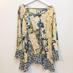 Figueroa & Flower Multi Print Tunic Top ▪️